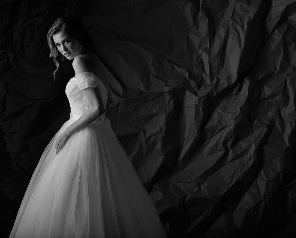 White Gown in Black and White by Dan Howell