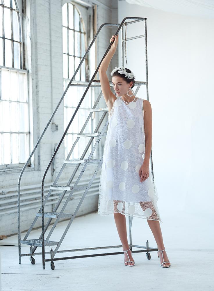 White on White Ladder by Dan Howell