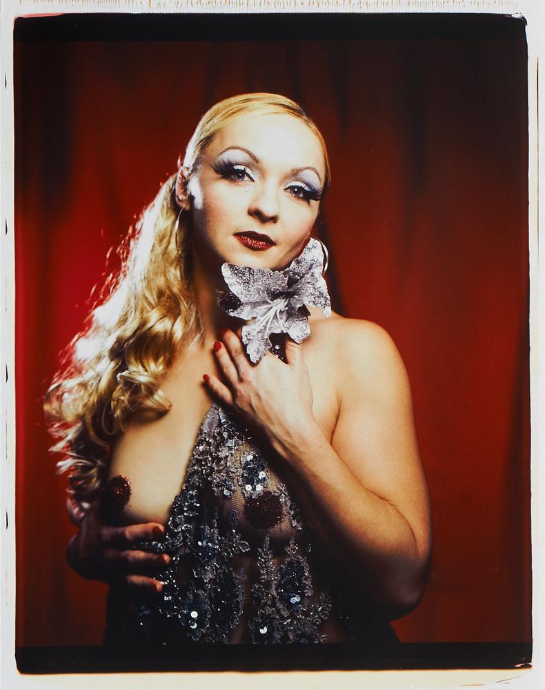 Burlesque Star On Polaroid 20 x 24 by Dan Howell