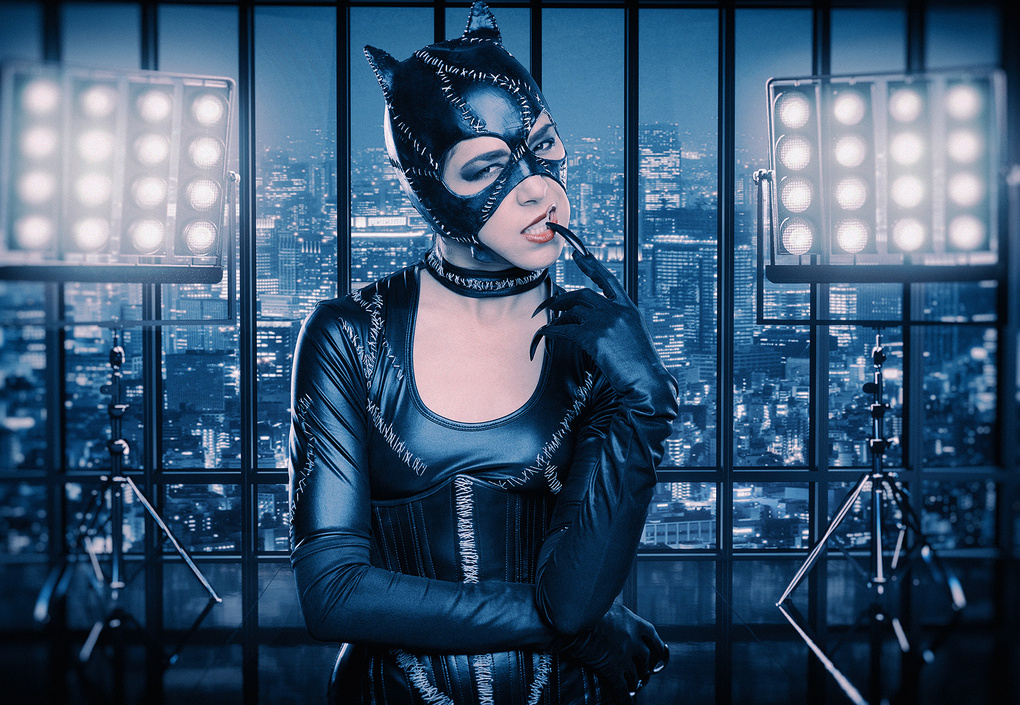 Catwoman City Composite by Dan Howell