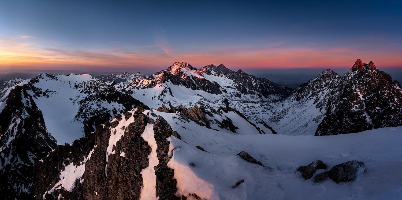 Peaks at dusk by Štefan Condík