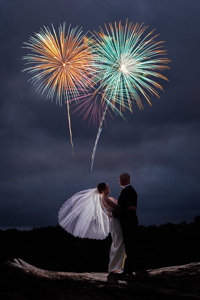 Wedding fireworks by Ben Ashford