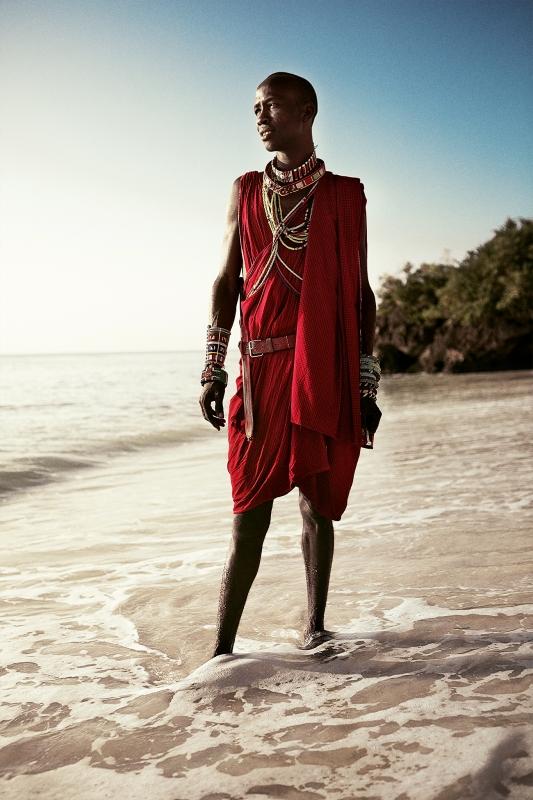 Hero Shot of a Masai - Kenya by Claude Lee Sadik