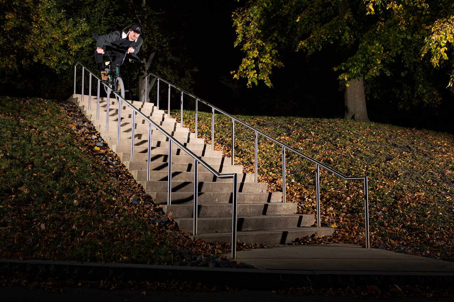 Jake Sheets-20 stair aluminum handrail by Tom Beckman
