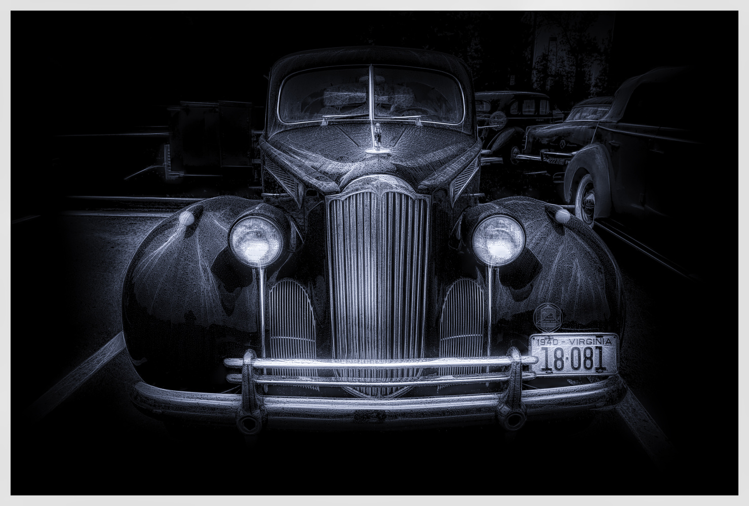 Packard and Raindrops by John Ellingson