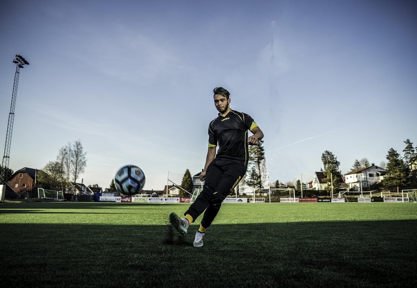 football by Christoffer Holenbakken