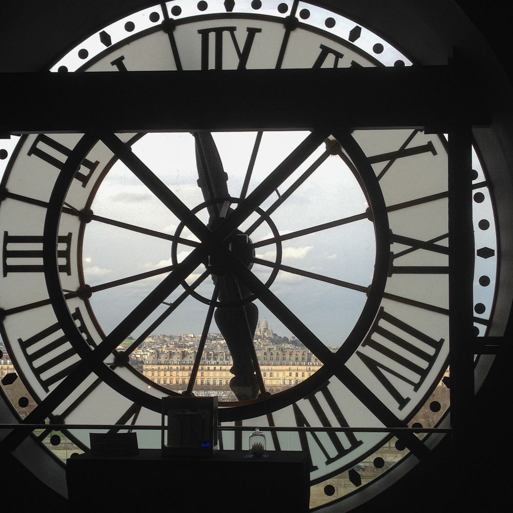 View through the clock by Melanie Knight