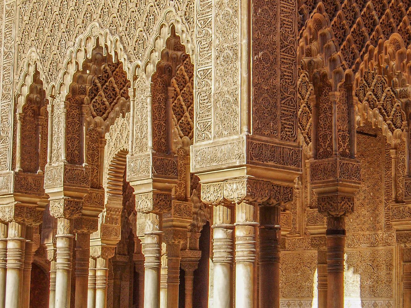Alhambra arches by Melanie Knight