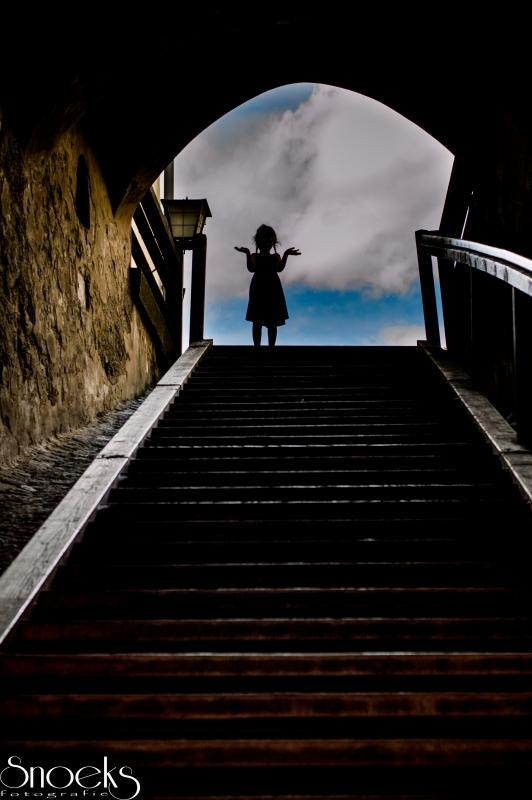 little exploring girl by Matthieu Snoeks