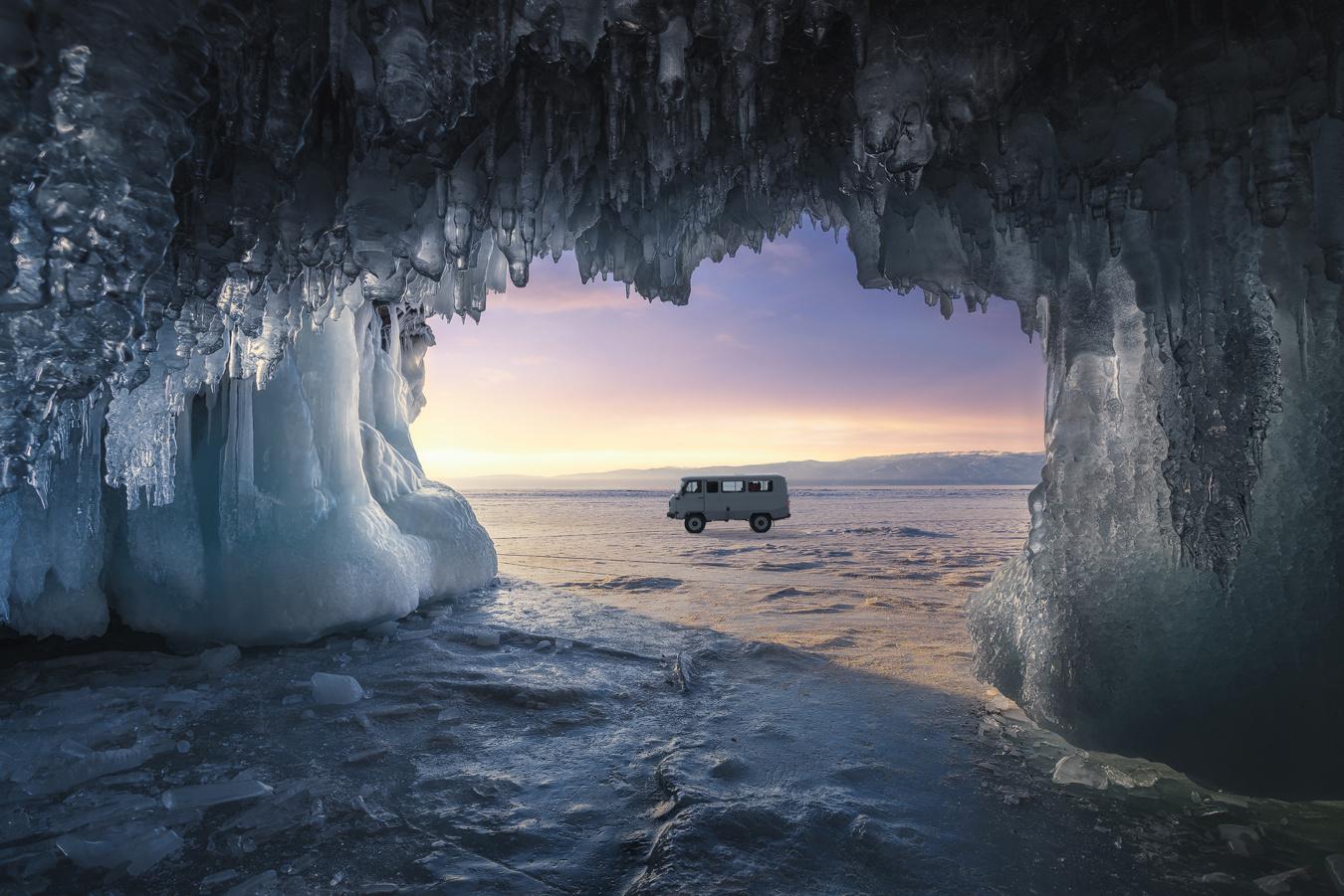 Ice cave at Baikal Lake by jabi sanz