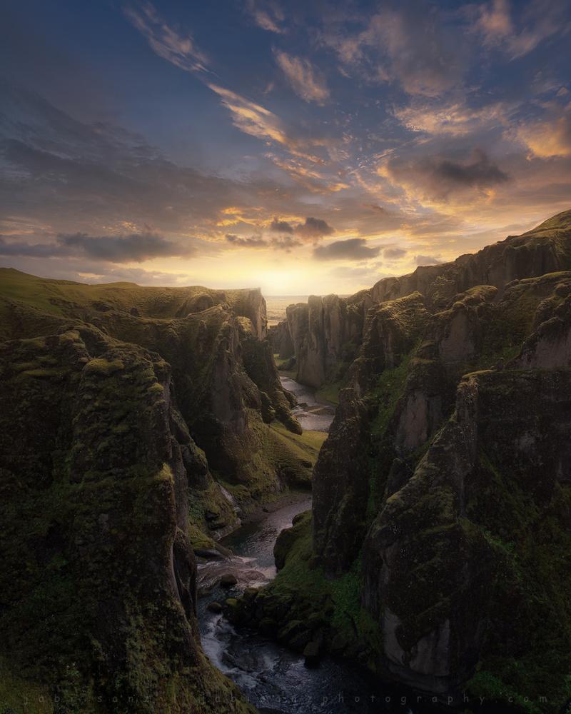 Fjaorargljufur canyon by jabi sanz