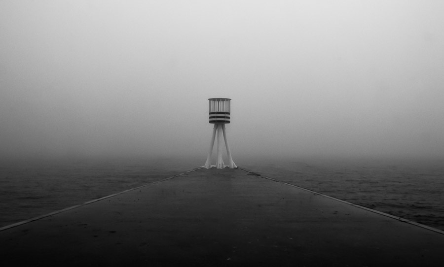 The Lifeguard Tower by Kevin Flanagan