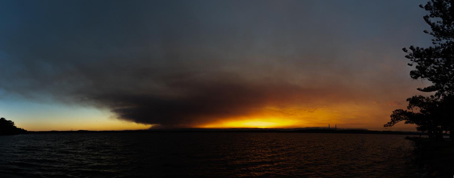 Smoke & Sunset by Steven Wallace