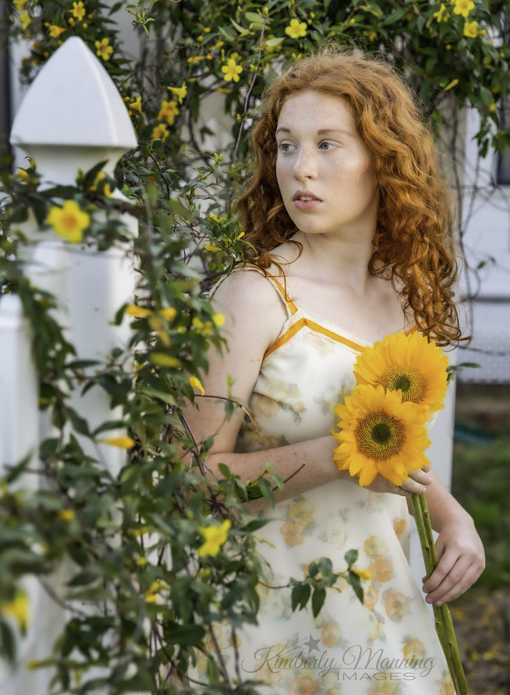 Flowers and a Ginger by Kimberly Manning