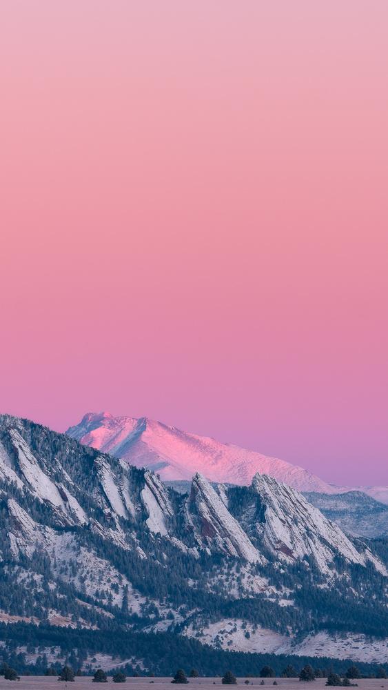 Longs Peak and Flatirons by John Daniel