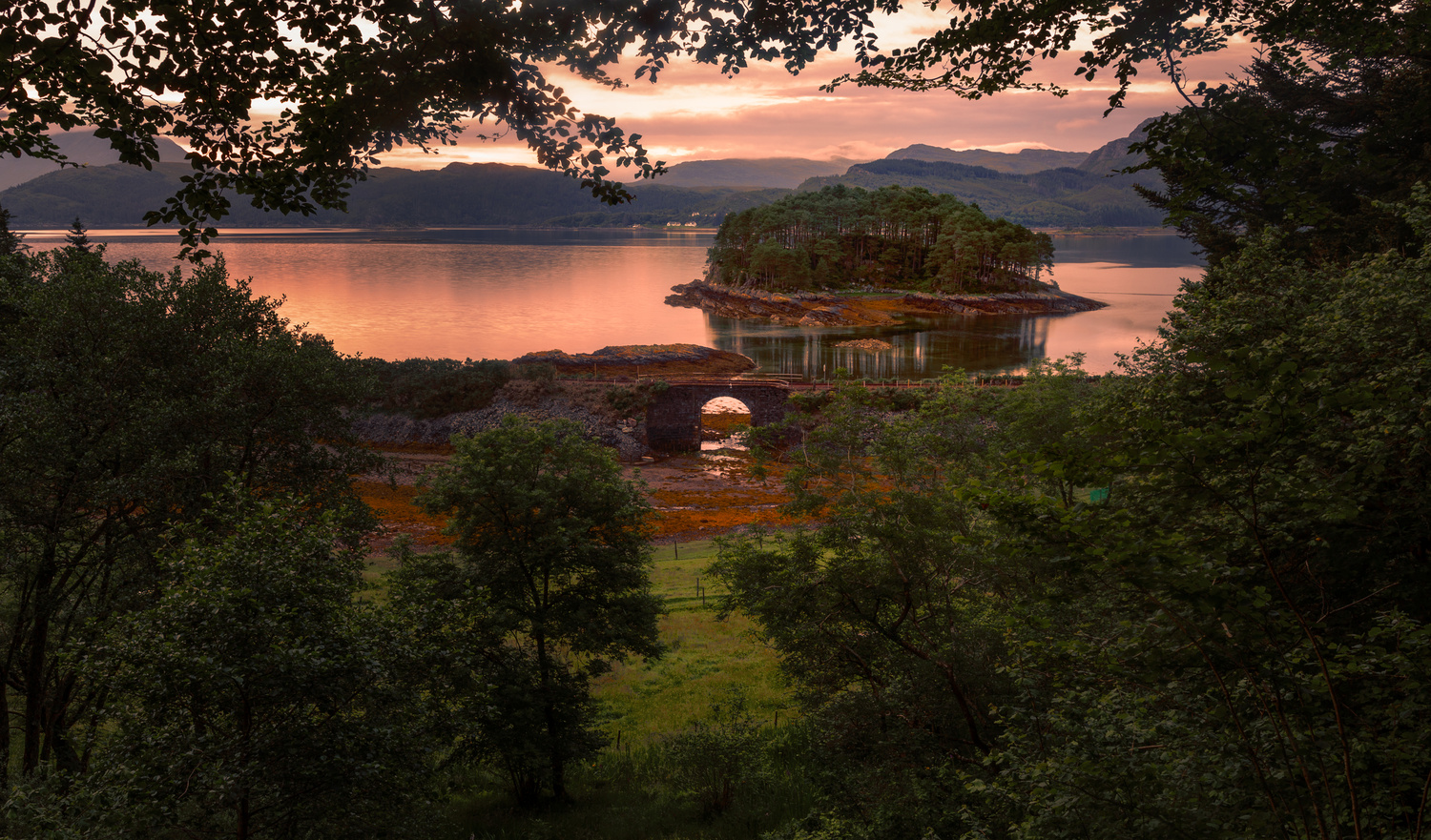 Sunset on Loch Carron by Nic Cameron