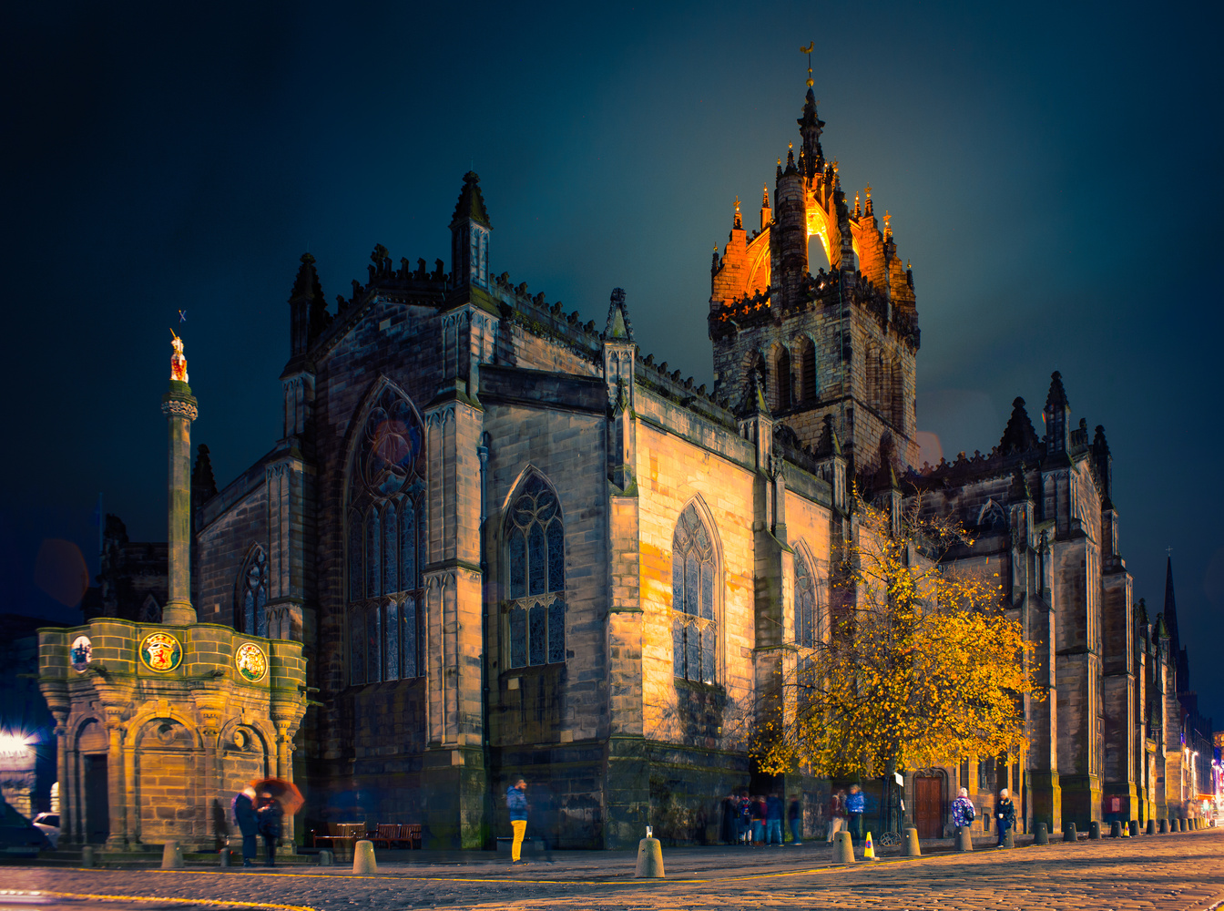 St. Giles' Cathedral at Night by Nic Cameron