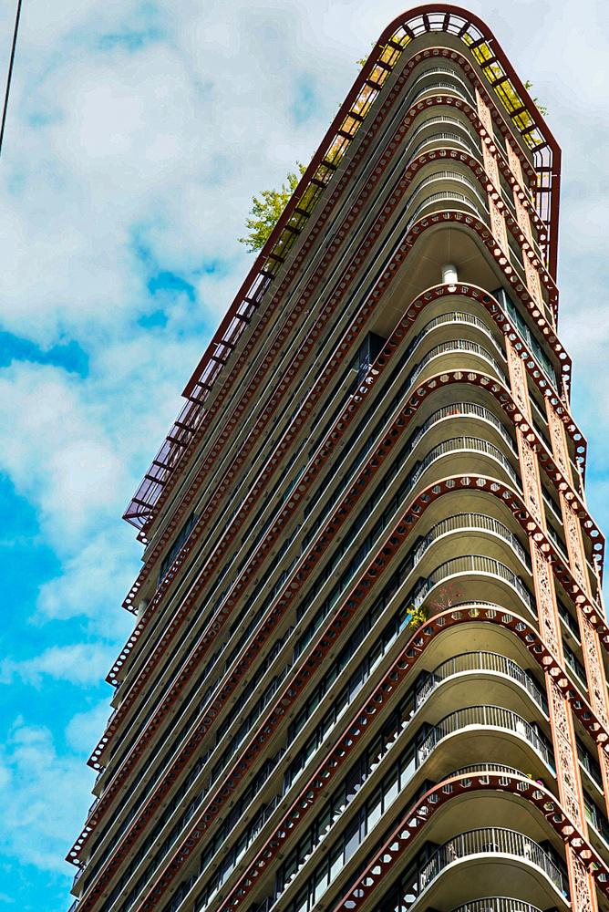 Weird building treetop life by Taylor Hawkins