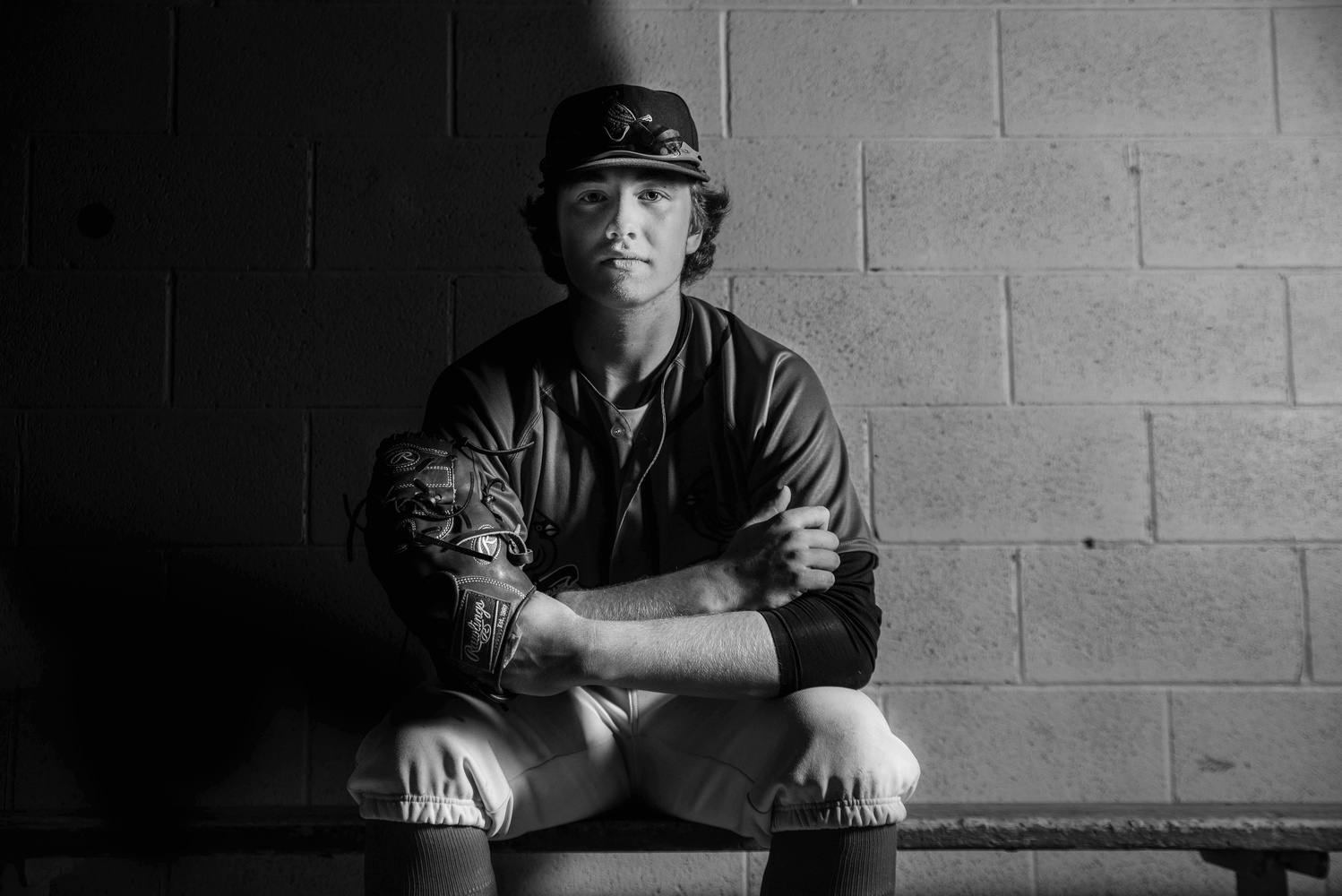 Baseball Portrait by Mike Ofstedahl