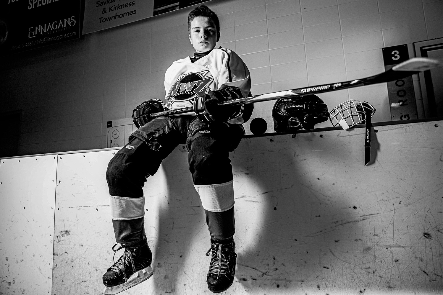 Hockey Portrait series by Mike Ofstedahl