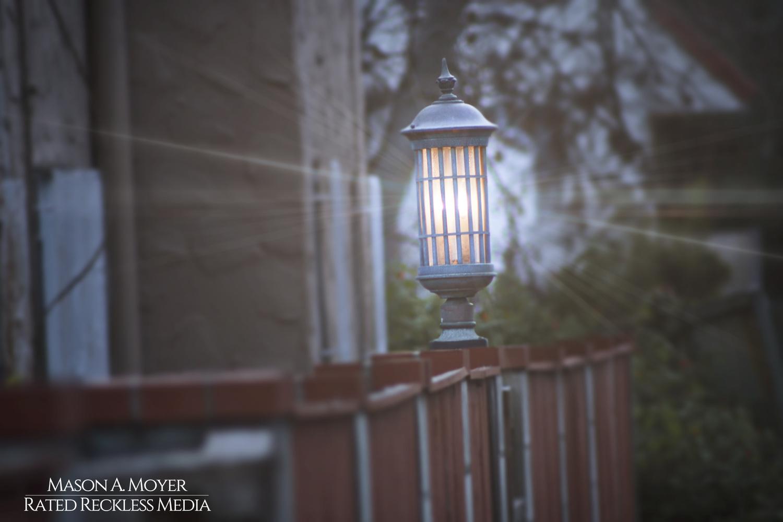 Alleyway Lamp in Los Angeles by Mason Moyer
