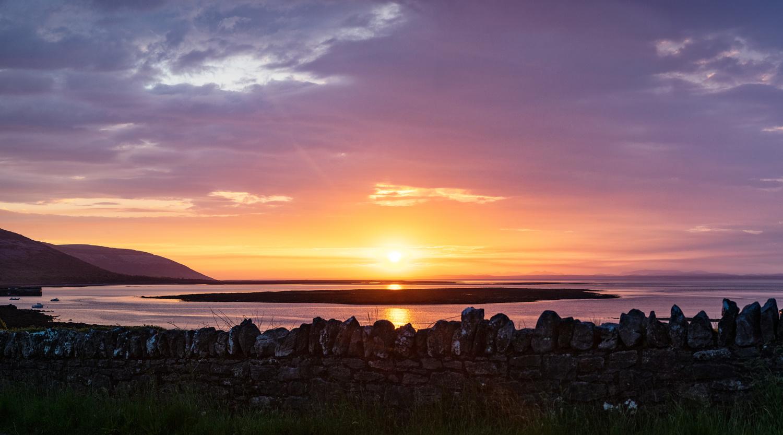 Ballyvaughan Sunset Panoramic by Jarrett Steil