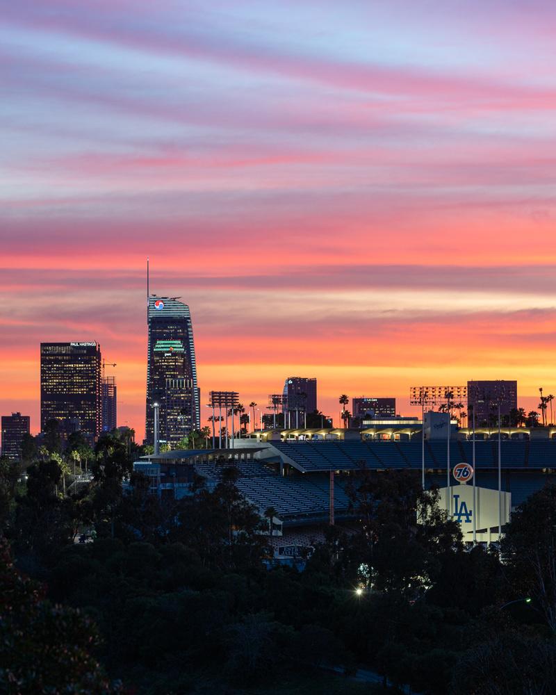 Crazy LA Sunset by Jarrett Steil