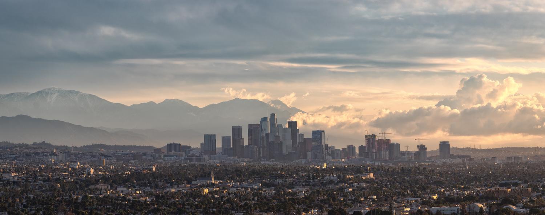 Los Angeles city Panoramic by Jarrett Steil