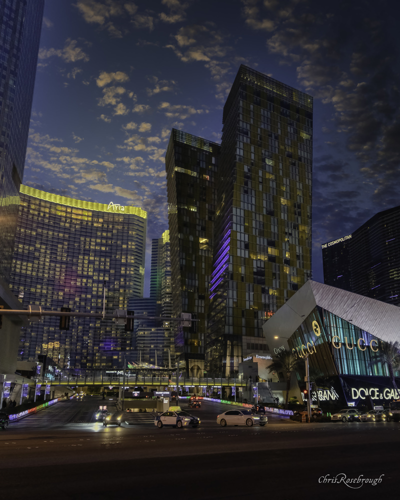 Aria Vegas at Blue Hour by Chris Rosebrough