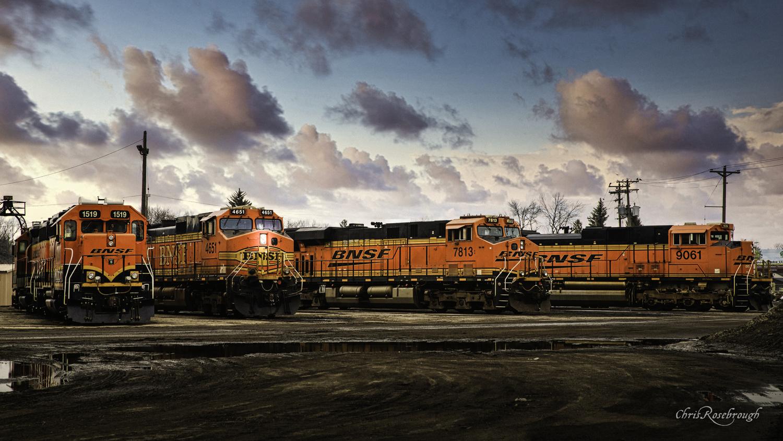 BNSF Engine Yard Grand Forks, North Dakota by Chris Rosebrough