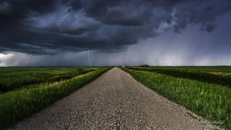 Grandin, North Dakota Summer Storm by Chris Rosebrough