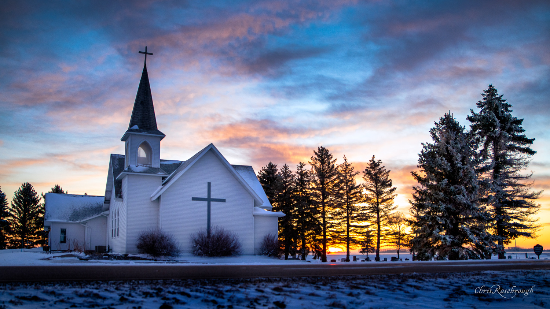 Minnesota Winter Sunrise by Chris Rosebrough