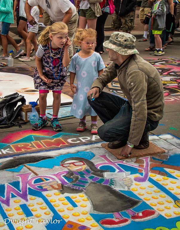 Chalk Art Critics by Dwight Taylor