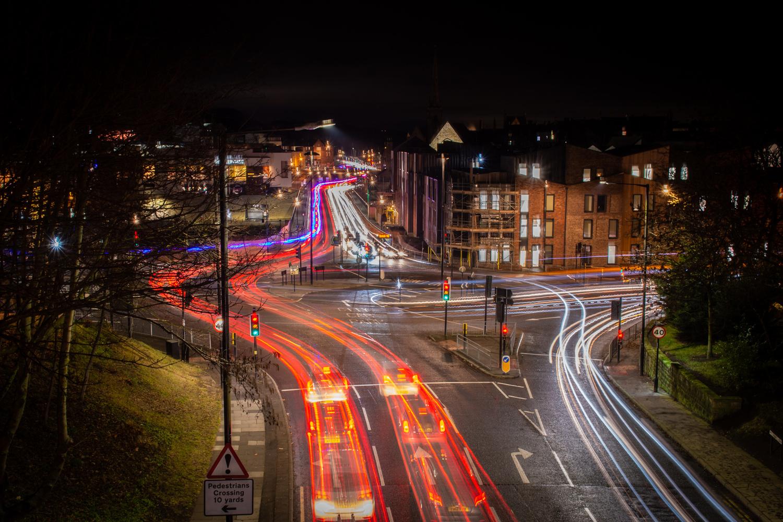 Durham light trails by Johnnie Walker