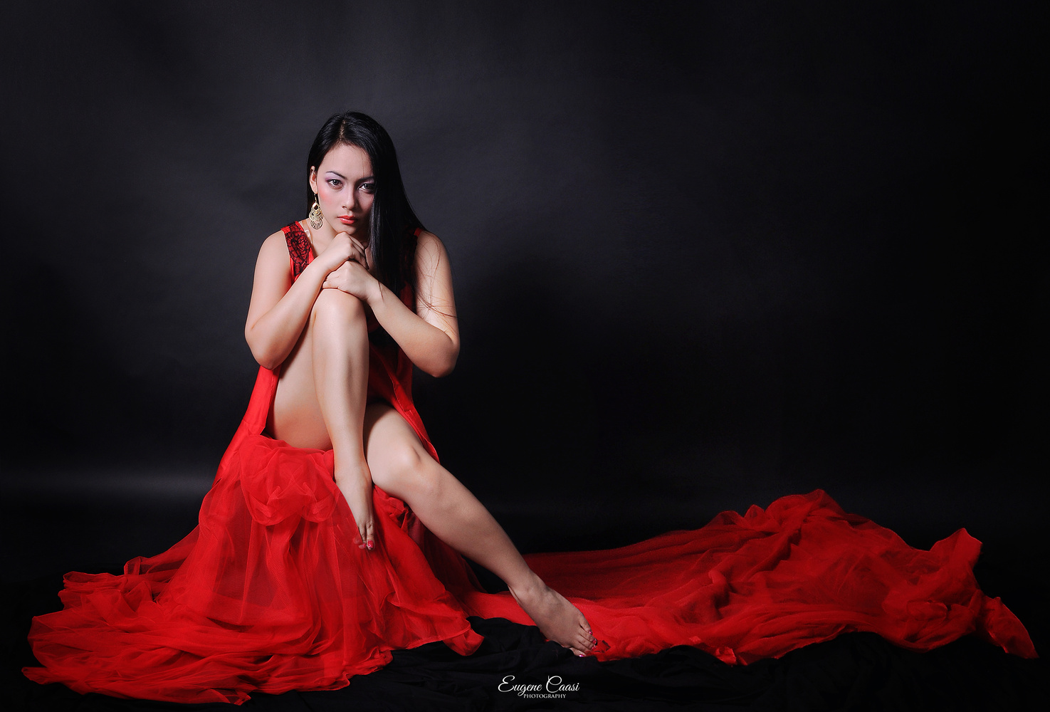 THE LADY IN RED by EUGENE CAASI