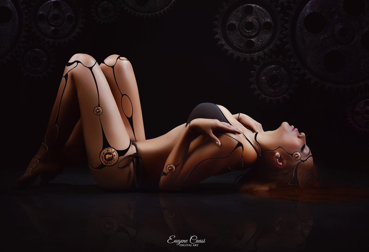 LADY CYBORG 2 by EUGENE CAASI
