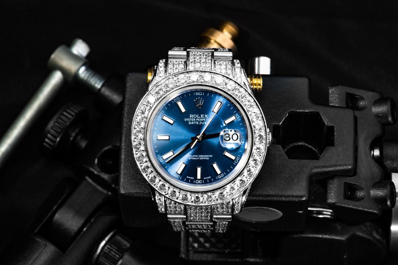Blue Iced Rolex datejust by Silvio Richetto