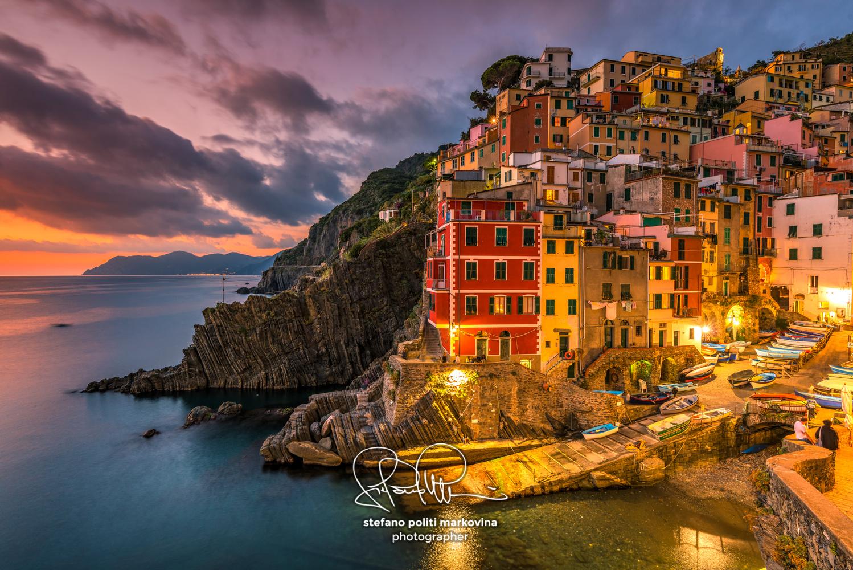 Riomaggiore, Cinque Terre, Liguria, Italy by Stefano Politi Markovina