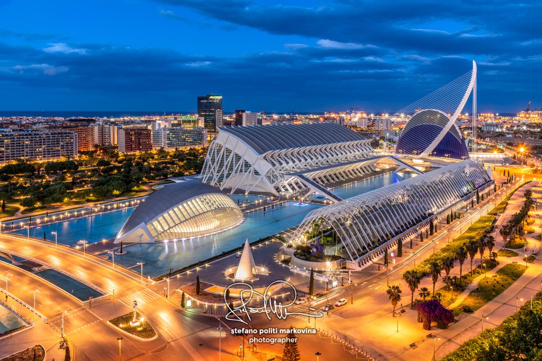 City of Arts and Sciences or Ciudad de las Artes y las Ciencias, Valencia, Spain by Stefano Politi Markovina
