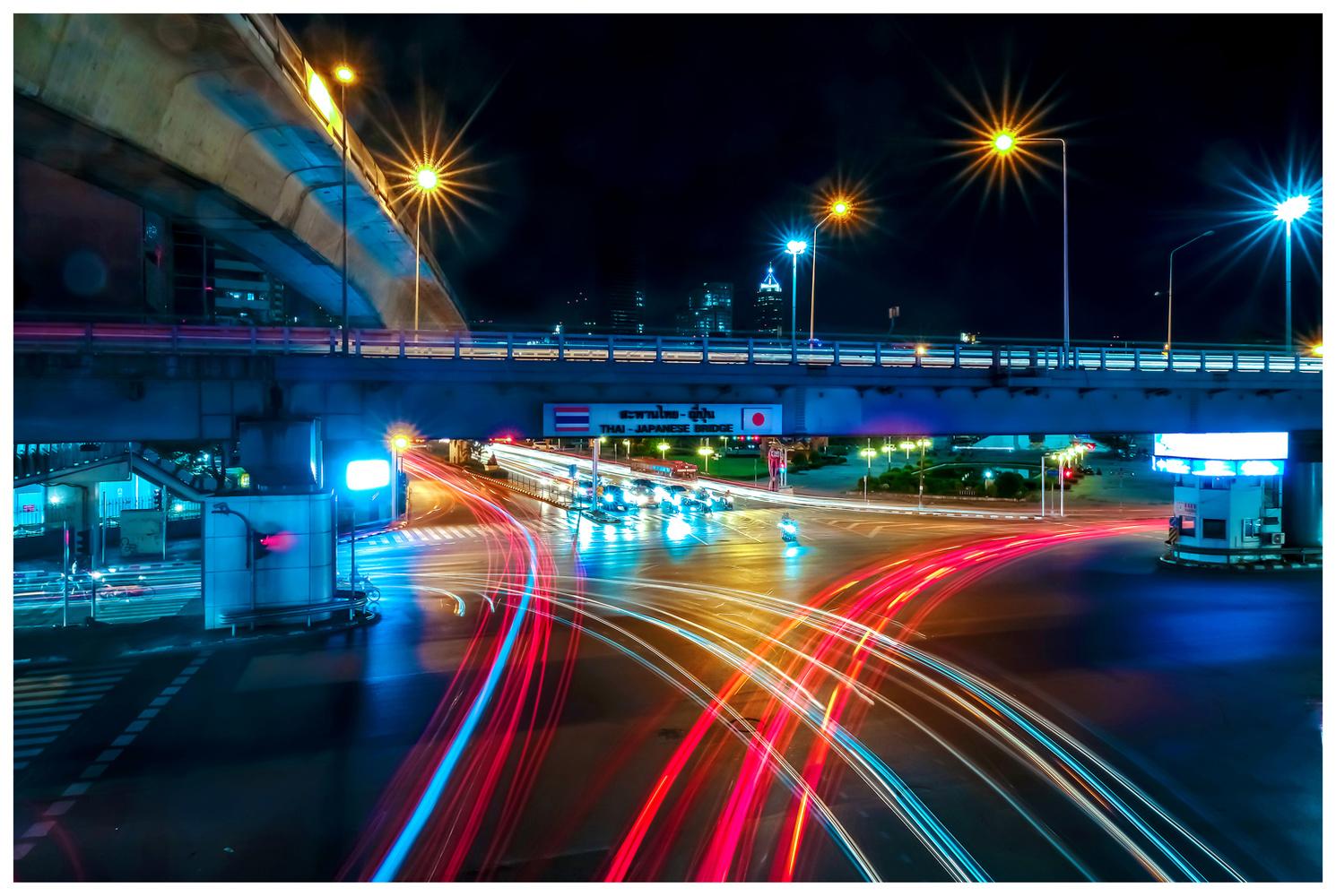 Intersection Bangkok by bob mocarsky