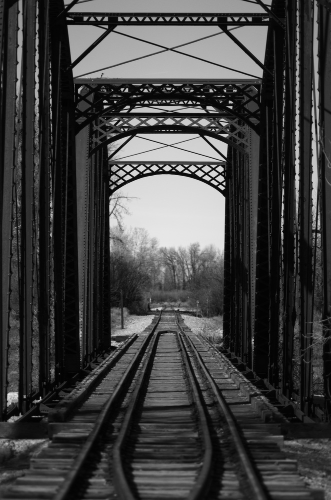 Railroad bridge by J.R. Taylor