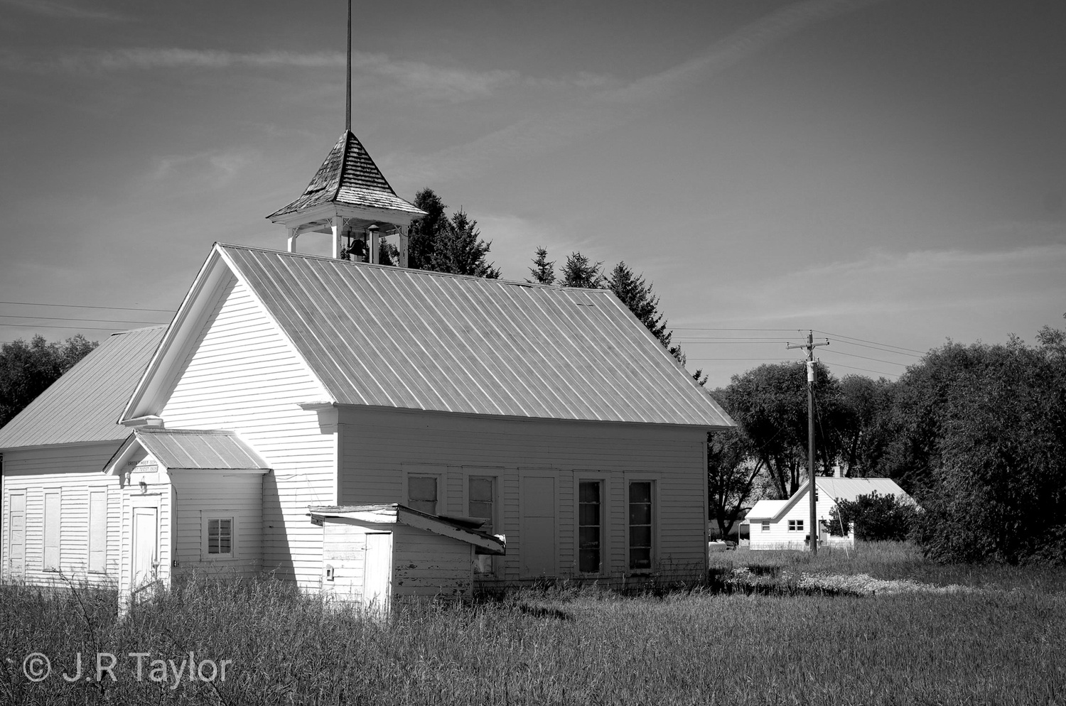 Old schoolhouse by J.R. Taylor