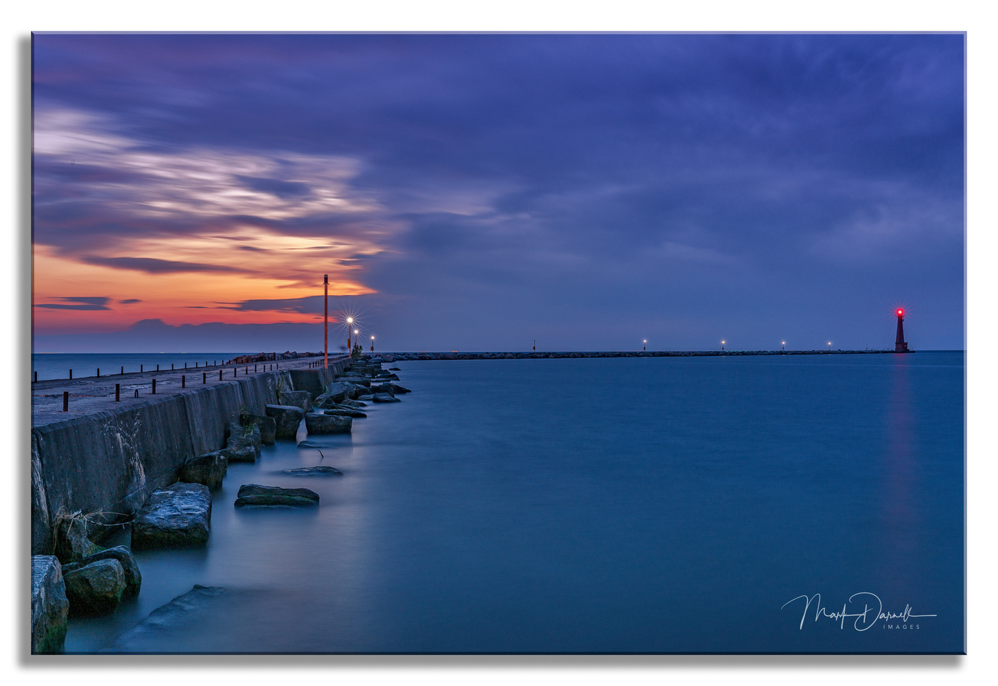 Muskegon South Pierhead Sunset by Mark Darnell