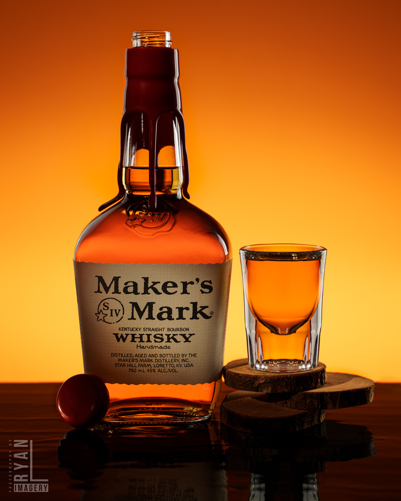 Makers Mark Product Shot by Ryan Littlefield