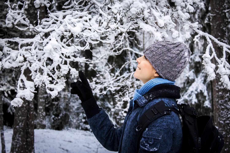 Admiring First Snow by Natasha Weedman