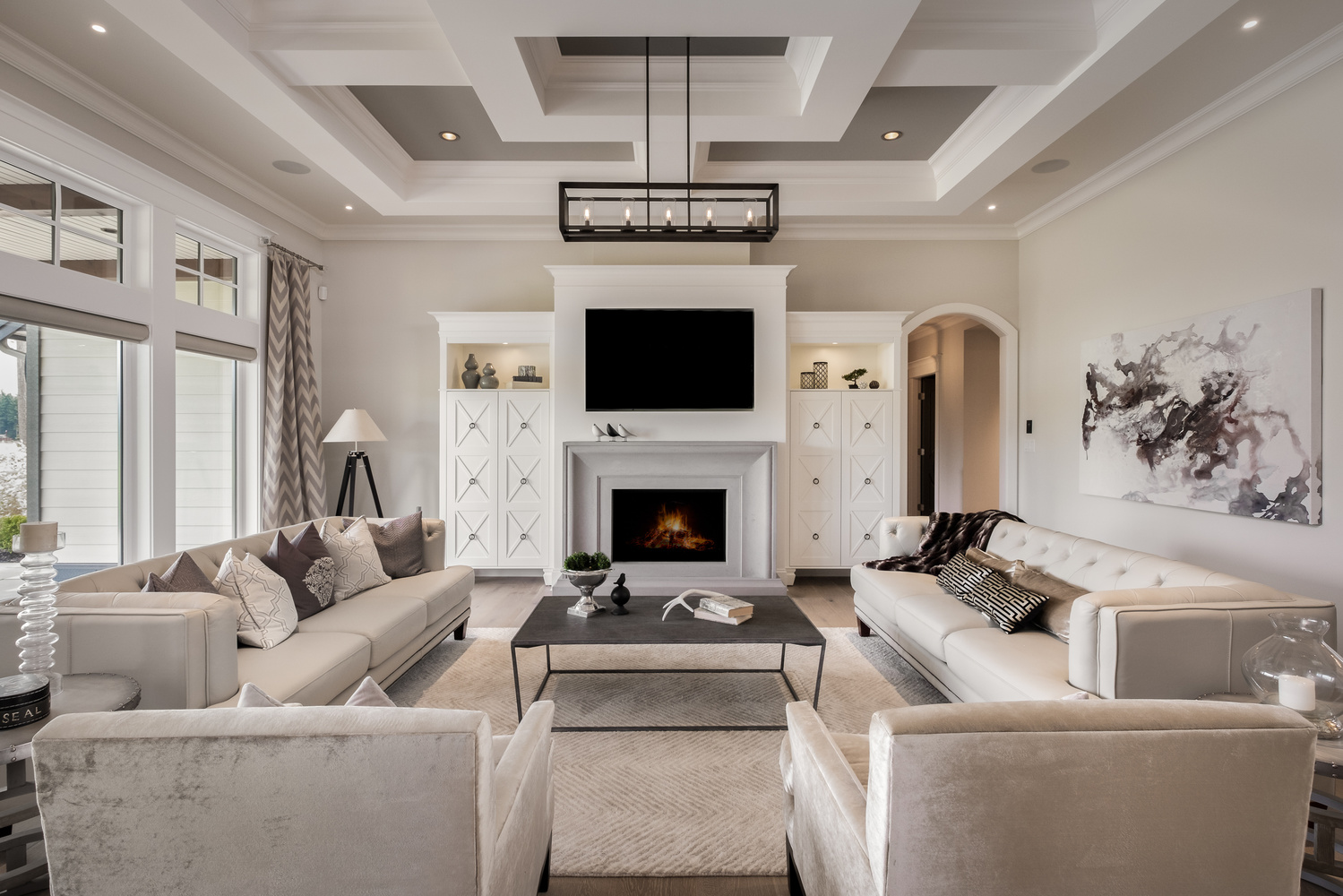 Living Room with Beautiful Ceiling by Jay Cubitt