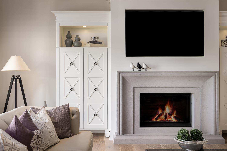 Modern Living Room & Fireplace by Jay Cubitt