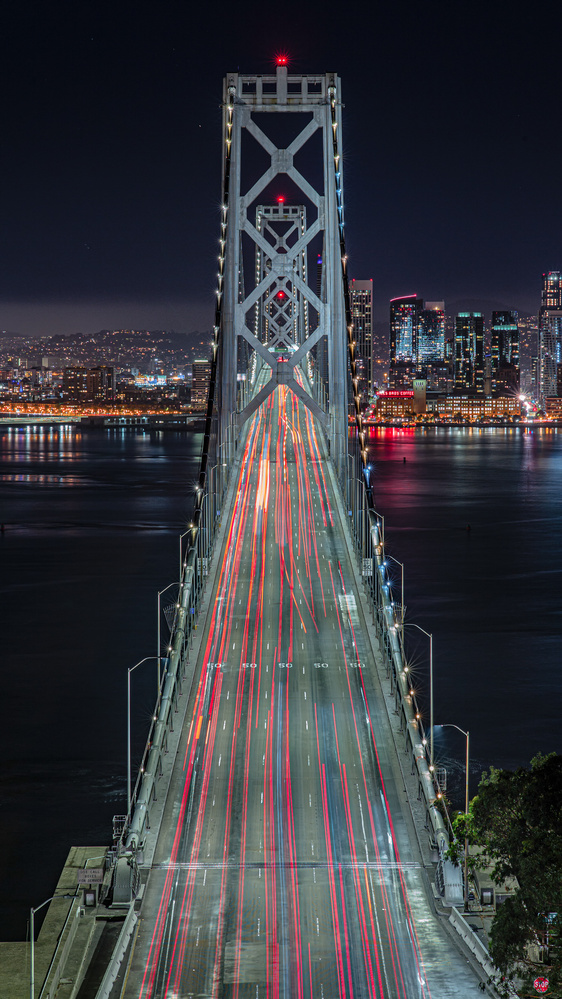 Bay Bridge at Night by David Yoon