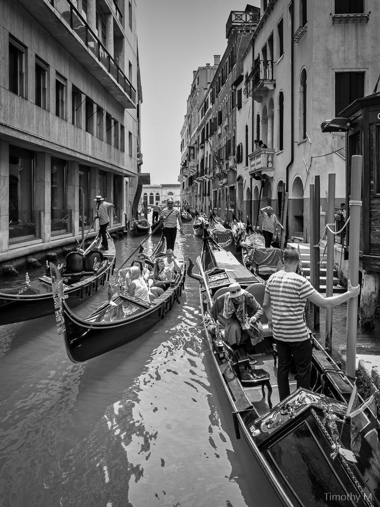 Traffic Jam - Venice Italy by Tim McBroome