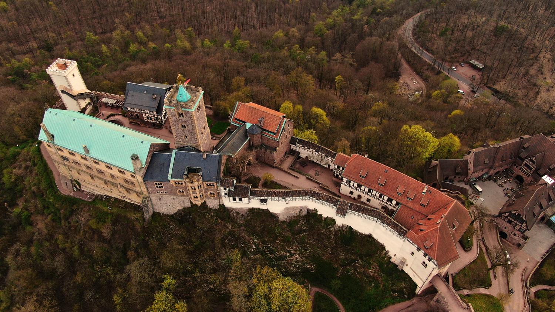 Wartburg Aerial Shot by Philipp Brüsch